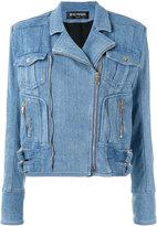 Balmain denim jacket - women - Cotton/Spandex/Elastane/Viscose - 42