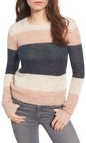Pam & Gela Women's Stripe Alpaca Blend Sweater