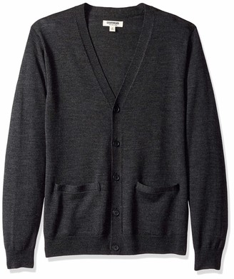Goodthreads Amazon Brand Men's Lightweight Merino Wool Cardigan Sweater