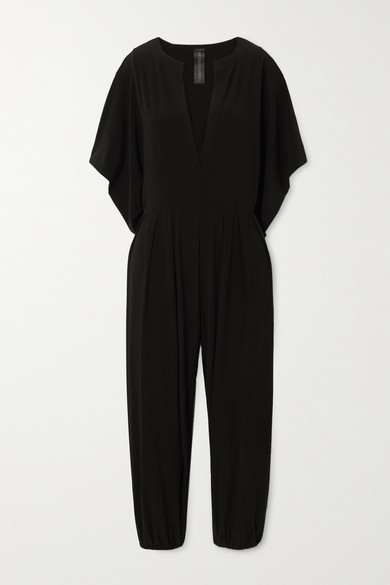 Thumbnail for your product : Norma Kamali Rectangle Cropped Stretch-jersey Jumpsuit - Black