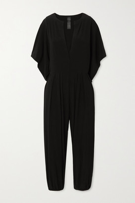 Norma Kamali Rectangle Cropped Stretch-jersey Jumpsuit