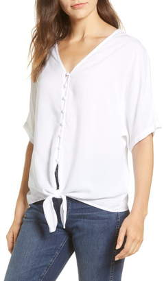 BeachLunchLounge Kelli Tie Front Rayon Top