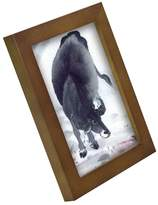 TELLM Solid wood decorative photo frame picture frame wall poster frame WalnutColor