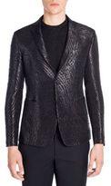 Emporio Armani Giacca Jacquard Pattern Jacket