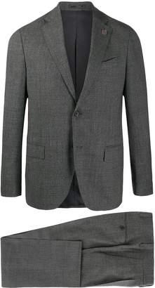 Lardini check-print two-piece suit