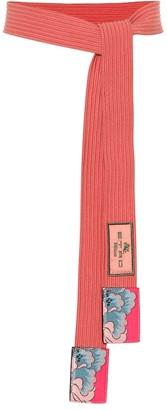 Etro Leather-trimmed belt