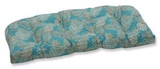 Bay Isle Home Emeline Batik Wicker Indoor/Outdoor Loveseat/Sofa Cushion Fabric: Lagoon