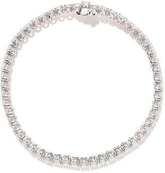 As 29 18k White Gold Round Diamond Bracelet