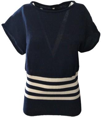 Trussardi Blue Cotton Knitwear for Women