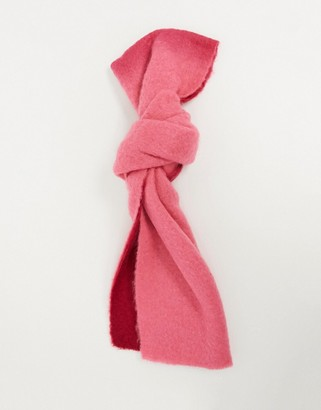 ASOS DESIGN fluffy wool mix ombre scarf in pink