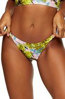 Topshop IDOL Tropical Print Tanga Bikini Bottoms