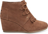 Toms Rawhide Suede with Kiltie Women's Desert Wedge Booties