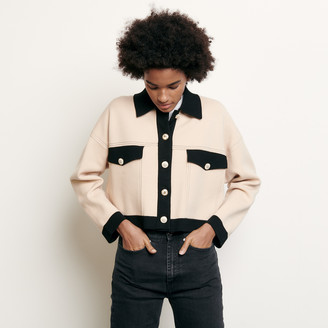 SandroSandro Cropped cardigan with topstitching