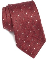 John Varvatos Men's Dot Cotton & Linen Tie