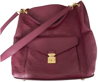 Louis Vuitton Metis Burgundy Leather Handbags