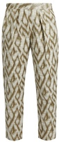 Raquel Allegra Abstract-jacquard cotton-blend trousers