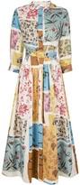 Oscar de la Renta patchwork floral dress