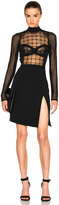 David Koma FWRD Exclusive Macrame Bodice Mini Dress