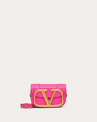 Valentino Small Supervee Neon Calfskin Crossbody Bag Women Azalea 100% Pelle Bovina - Bos Taurus OneSize