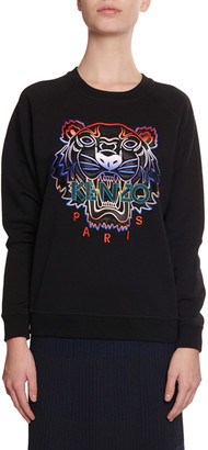 Kenzo Gradient Tiger Logo Pullover Sweatshirt