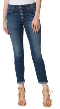 Jessica Simpson Arrow Straight Button-Fly Ankle Jeans