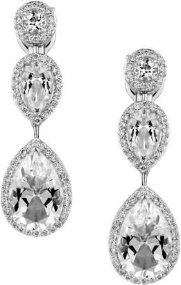 Swarovski x Penelope Cruz White Gold, Diamond and Topaz Lola Drop Earrings