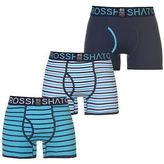 Crosshatch Mens Allsync Boxers Pack of 3 Boxer Underwear Stripe Stretch Stretchy