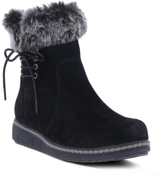 Spring Step Suede Pull-On Booties - Ronni