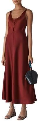 Whistles Pippa Satin Slip Dress