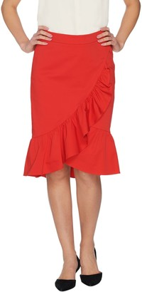 Isaac Mizrahi Live! Ruffle Flounce Skirt