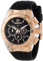 "Technomarine Unisex 110044 ""Cruise Original Star"" Gold-Tone Stainless Steel Watch with Interchangeable Rubber Straps"