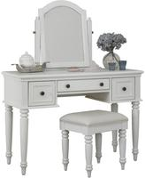 Home Styles Bermuda White Vanity and Bench