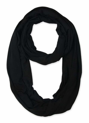 Corciova Light Weight Solid Colors Infinity Scarf Endless Loop - Black - XXL