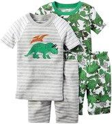 Carter's 4 Piece Dino PJ Set (Baby) - Print - 18 Months