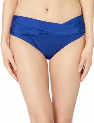 Kenneth Cole New York Women's Core Solids Twist Band Pant Bikini Bottom
