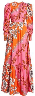 Erdem Claudina Puff Sleeve Gown