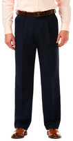 Haggar Cool 18 Pro - Classic Fit, Pleat Front, Hidden Expandable Waistband