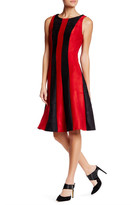 Eva Franco Stripe Paneled Sleeveless Dress