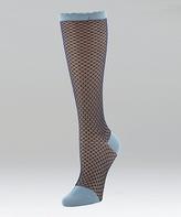 Natori Denim Blue Diamond Trellis Knee-High Socks