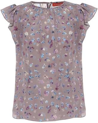 Altuzarra Floral silk-crepe blouse
