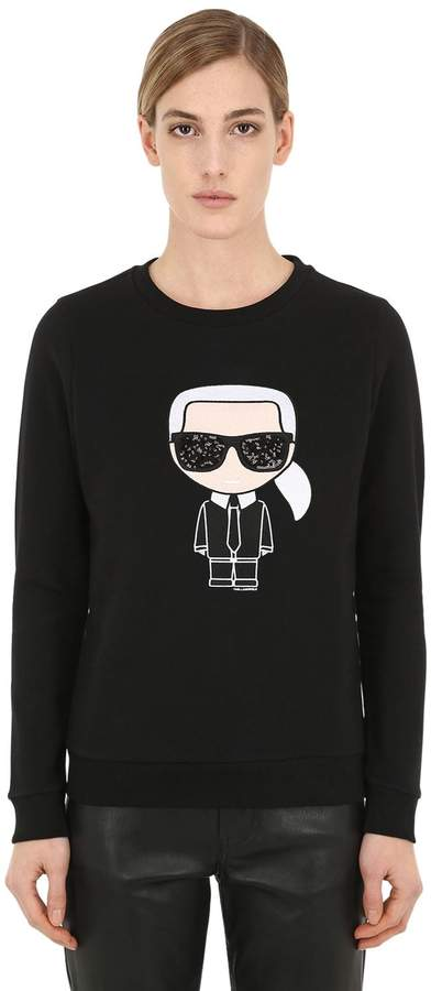 Karl Lagerfeld Paris Ikonik Cotton Sweatshirt