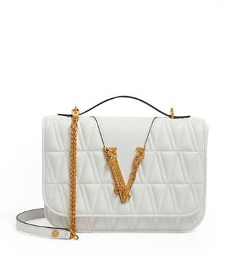 Versace Leather Quilted Virtus Shoulder Bag