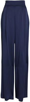 Intermix Siobhan Silk Wide-Leg Pants