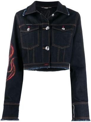 Philipp Plein Flame Denim jacket