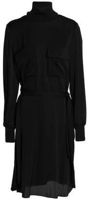 By Malene Birger Cutout Silk-blend Crepe De Chine Turtleneck Dress