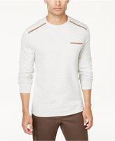 Tasso Elba Men's Pocket Sweatshirt with Faux-Suede Trim, Created for Macy's