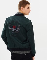 The Kooples Bomber Jacket with Embroidery