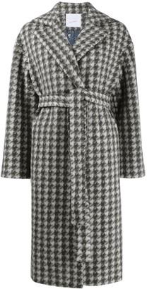 Giada Benincasa Houndstooth Belted Coat