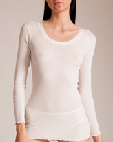 Dana Pisarra Parigi Cashmere Silk Long Sleeve Top