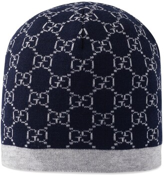Gucci Children's GG pattern wool hat